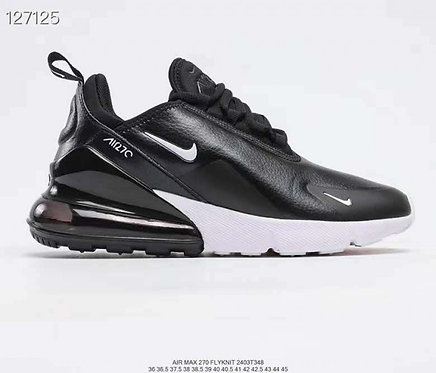 Nike Air Max 270 Leather Black White Running Shoes