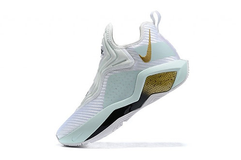 Nike LeBron Soldier 14 White/Mint Green/Gold Men's Basketball Shoes