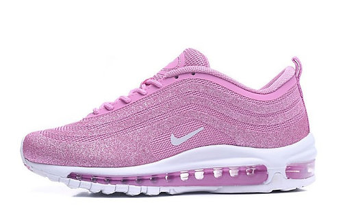 Womens Nike Air Max 97 Sneakers Pink White