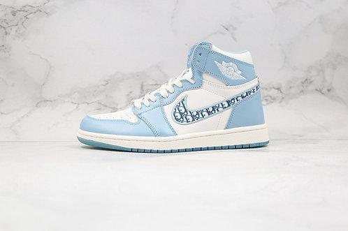 Air Jordan 1 AJ1 Blue White Mens Basketball Shoes