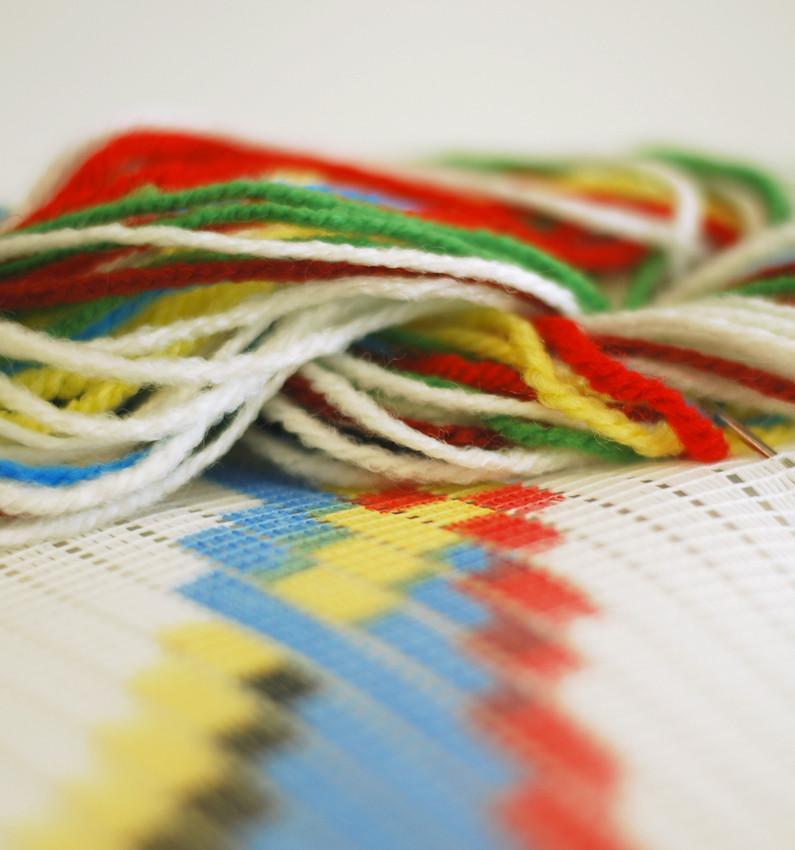 many multi coloured yarns