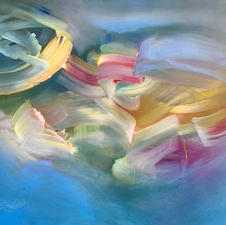 """Janet Seifert """"June Morning"""" Acrylic painting on archival paper $350"""