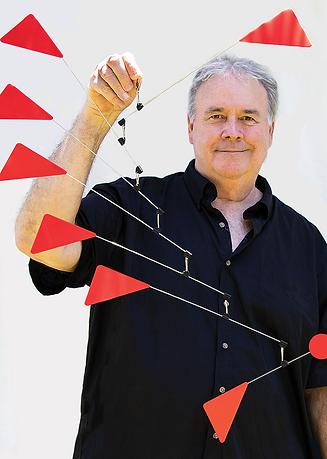 Artist Richard John Jenkins with Red Tri