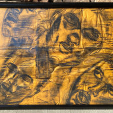"""IMFAMOUS """"A dollar ninety-nine and a stable mind""""Charcoal $750.00"""