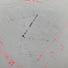 "William Jamieson ""Blueprint (Distraction #3) Acrylic on canvas $450"
