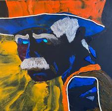"Joseph M. Giacalone ""Sam Elliott"" Acrylic $1000"