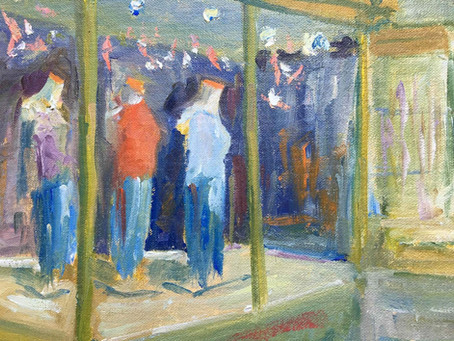 """Four TAG Artists in """"A Year of First Saturdays – Plein Air in Downtown Frederick."""""""