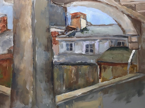 "Karen Winston-Levin ""View From Church Street Garage"""