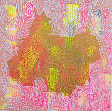 """Catherine Rupan Mapp """"The Source"""" Acrylic and paint pen on stretched canvas $200"""
