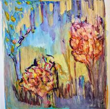 "Lexy Briest ""Aquarius Amethyst"" Watercolor on Paper $275"