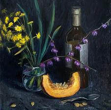 """Anastasiya Kavalenka """"Taste of Aromas"""" Oil on linen  $1,500.00"""