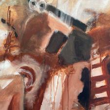 "Gail Kaplan ""The Barn Loft"" Acrylic $400"