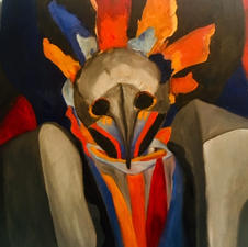 """Mary Waldhorn """"Primal"""" Oil on canvas $320"""