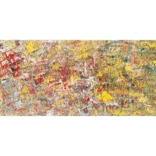 """Rachelle J Miller """"Hornets"""" Acrylic on canvas, 15x30 $850"""