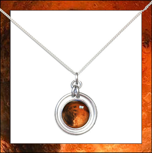 Mars Hoop Pendant and Chain