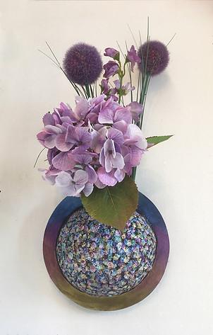 Round Elemental Wall Vase