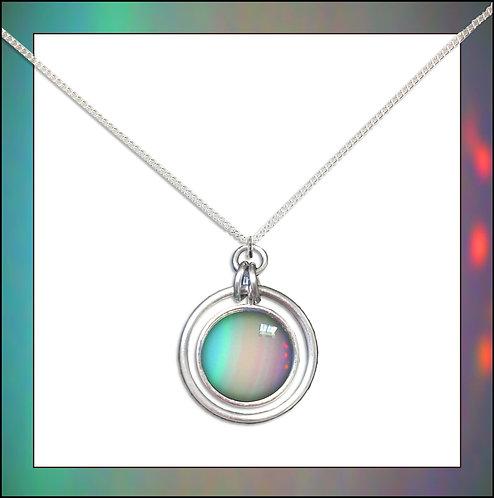 Uranus Hoop Pendant & Silver Chain