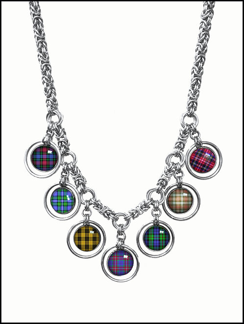 Chainmail Tartan necklace