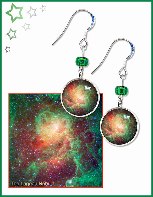 Lagoon Nebula Earrings
