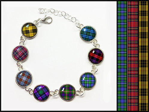 Tartan Charm Bracelets