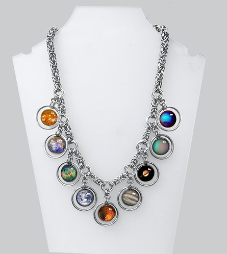 Chainmail Solar System Necklace