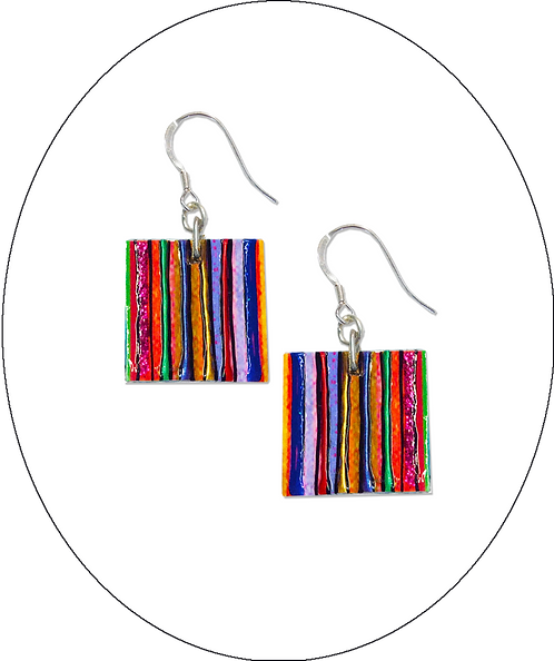 Square Jazzy Earrings
