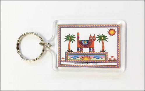 Hawaii Cat key-ring