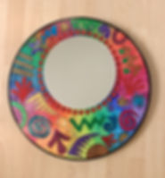 Jazzy Coloured Mirror