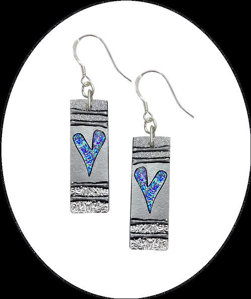 Silver Heart Drops