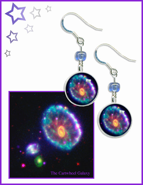 Cartwheel Galaxy Earrings