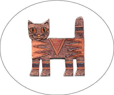 Standing Cat Brooch