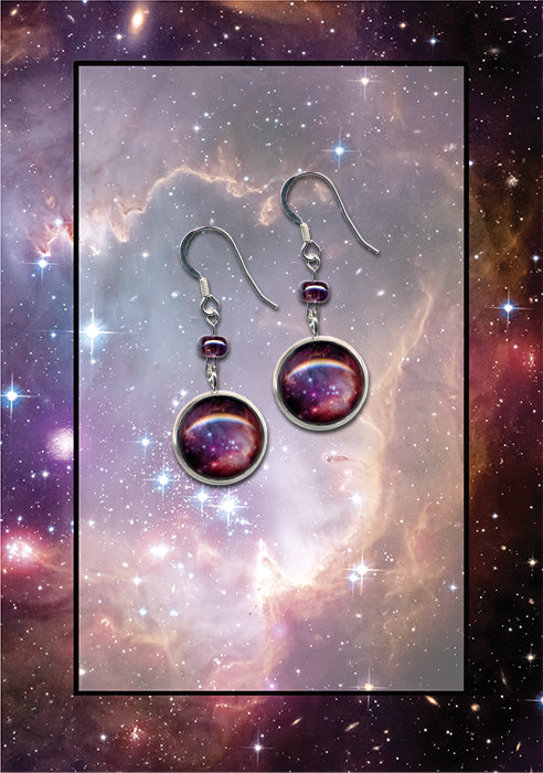 Small Magellanic Cloud Galaxy Earrings