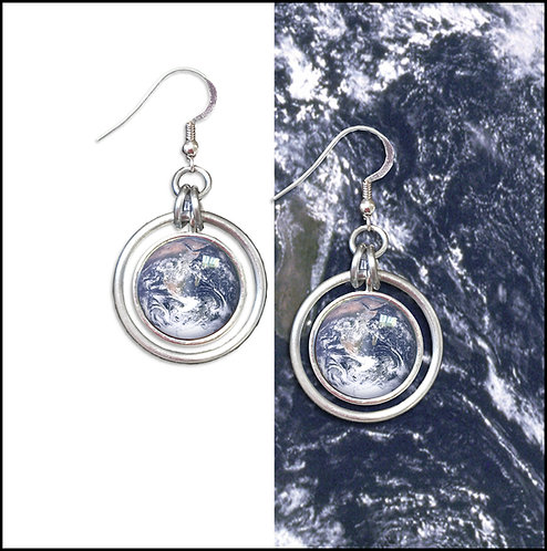 Earth Hoop Earrings