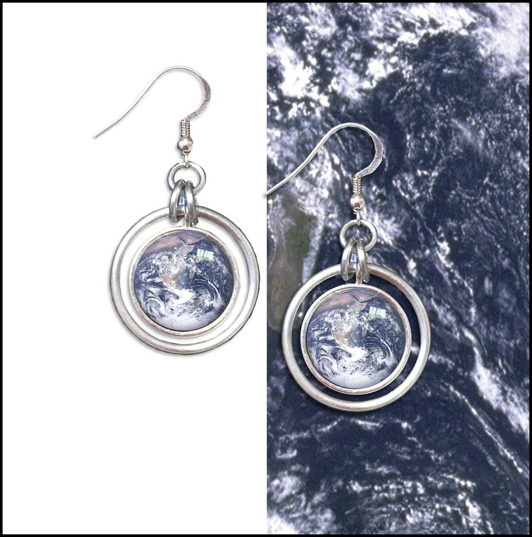 Earth Hoop Earrings