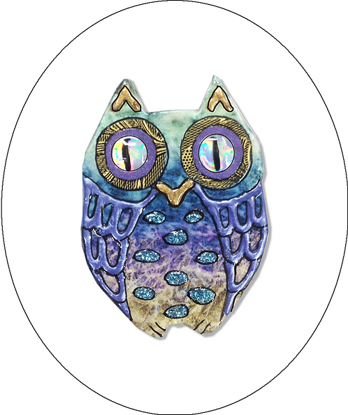 Large Owl Brooch