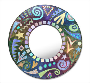 Pearlescent Jazzy Mirror