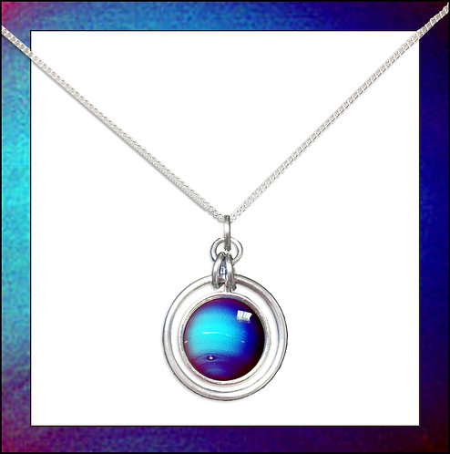 Neptune Hoop Pendant & Silver Chain