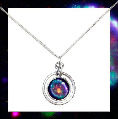 Cartwheel Nebula Hoop Pendant & Chain