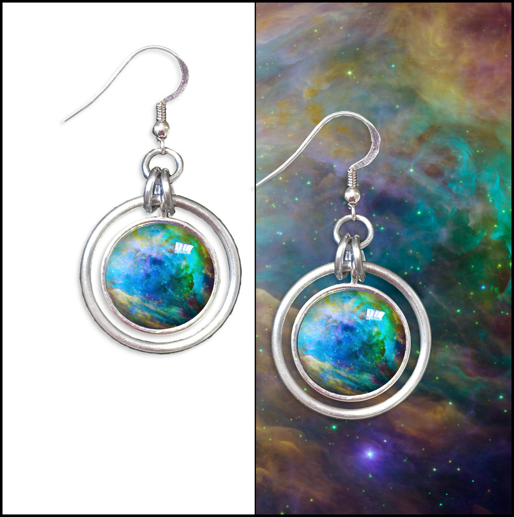 Orion Nebula Hoop Earrings