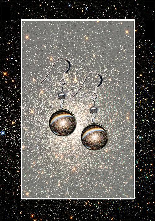 M80 Star Cluster Earrings