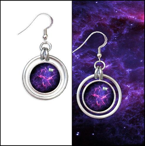 Crab Nebula Hoop Earrings