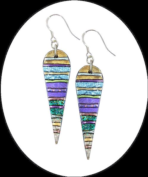 Pale teardrop earrings