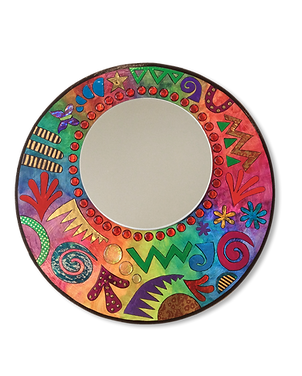 Jazzy Wood & Foil Collage Mirror