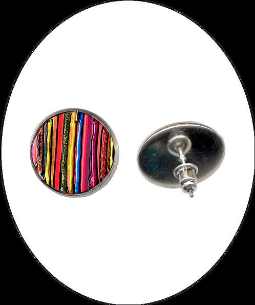 Jazzy Stripy Stud/Clip earrings