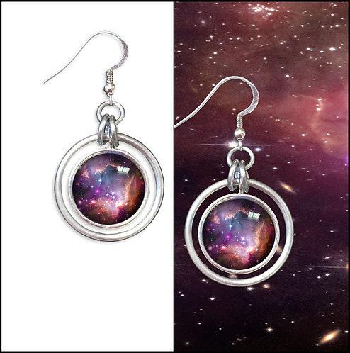 S.M.C. Galaxy Hoop Earrings