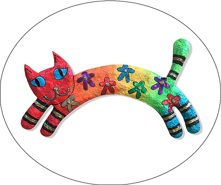Leaping Cat Wall Plaque