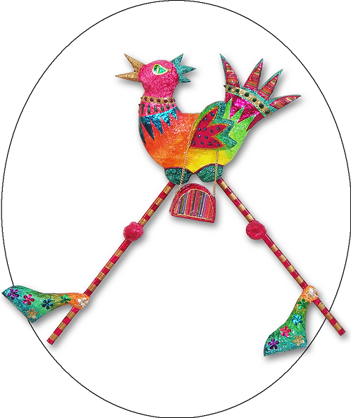 Funky Chicken Wall Plaque