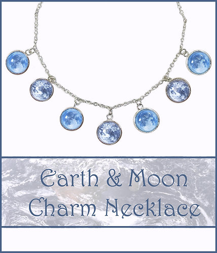 Earth & Moon Charm Necklace