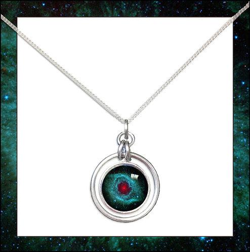 Helix Nebula Hoop Pendant on Chain
