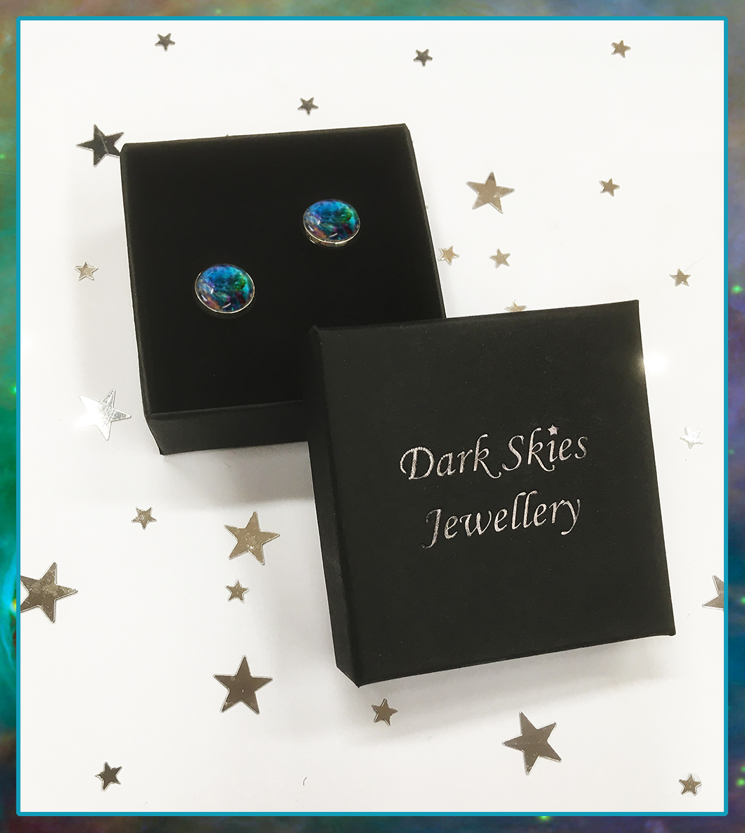 Nebula & Galaxy Stud Earrings